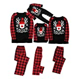 Family Christmas Pajamas Sets 2020 Personalized Quarantine Sleepwear 2021 Happy New Years Classic Red Plaid Loungewear(#08,X-Large/Women)
