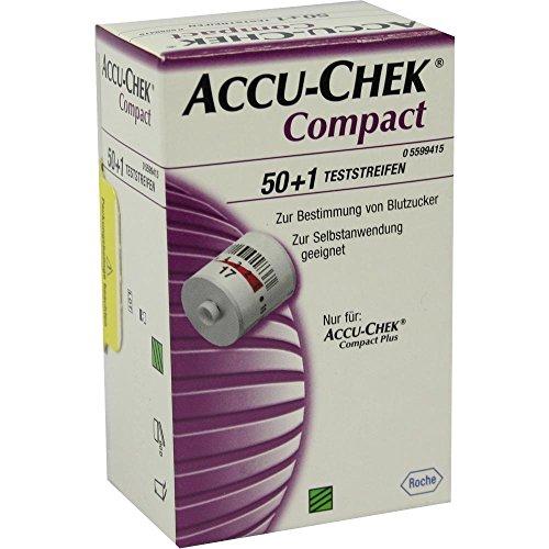 Accu Chek Compact Blutzuckerteststreifen, 50 St