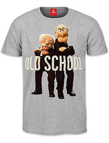 Muppets T-Shirt Grandmasters Statler & Waldorf Old School, Grau, XL