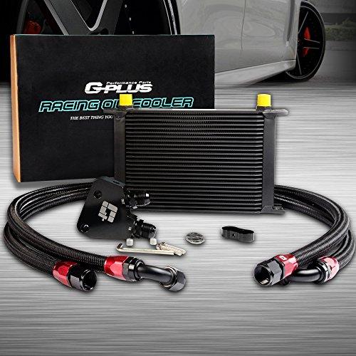 25 Row AN10 Engine Transmission Oil Cooler Kit + Oil Cooler Sandwich Plate For BILLET LS1 LS2 LS3 LSX VE HSV