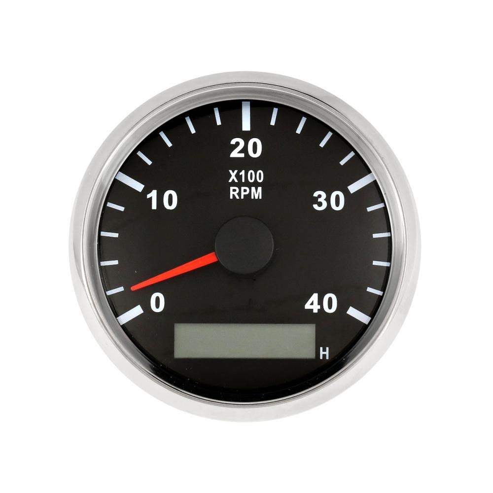 AUXMART Tachometer Gauge 0-4000 It is very popular Ranking TOP6 RPM with Truc Meter Car Hour for