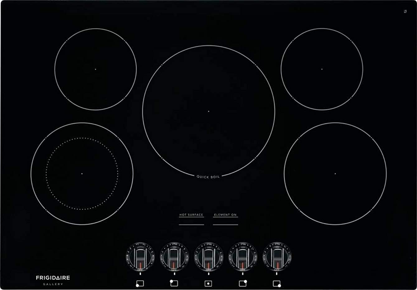 Frigidaire FGEC3068UB Gallery Series 30 Inch Electric Smoothtop Style Cooktop with 5 Elements in Black