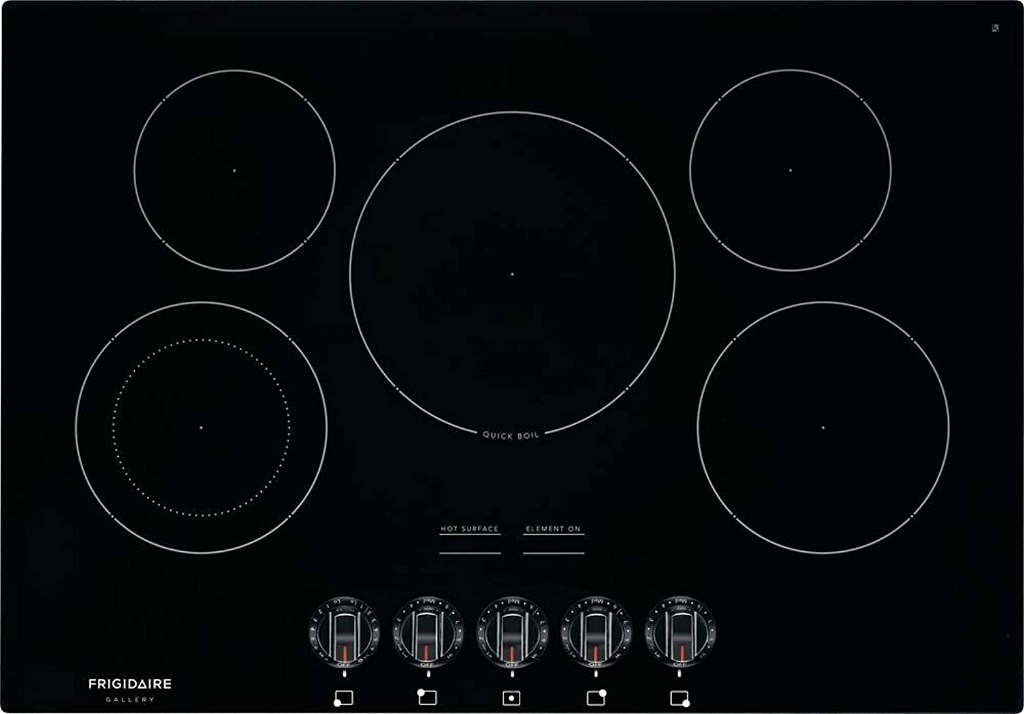 Frigidaire FGEC3068UB Gallery Series 30 Inch Electric Smoothtop Style Cooktop with 5 Elements in Black imifqwtrwkebf3