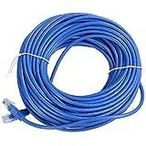 Kaxofang Cable de Red LAN RJ45 Ethernet Cat5 Cable de ConexióN, 30 M Azul 1 Piezas