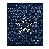 Pegasus Sports NFL Echo Team Wordmark Plush Blanket- Dallas Cowboys, Team Color, 60x70