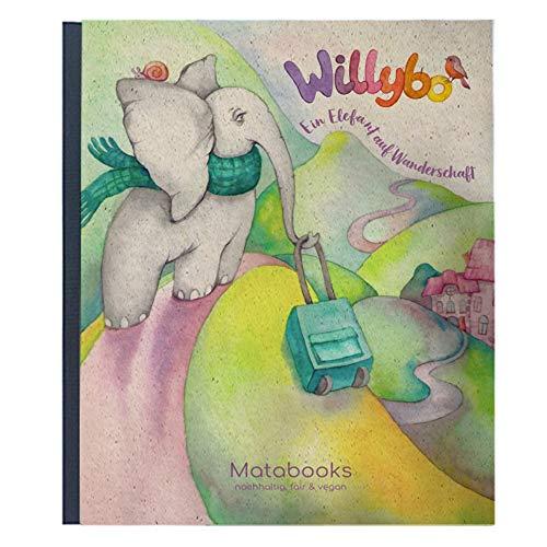 Matabooks, Kinderbuch aus Graspapier, Willybo - Ein Elefant auf Wanderschaft