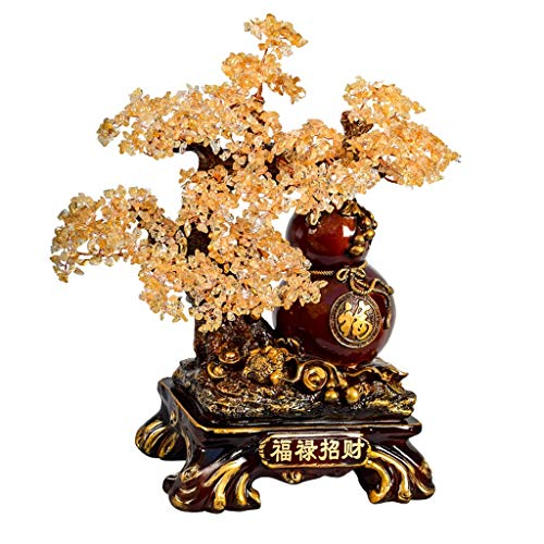 Crystal Tree Ornaments Gemstone Tree Healing Crystal Money Tree Feng Shui Crystal Bonsai Tree for Home Decoration Wealth Healing Gift Protection Spiritual Meditation Crystal Tree Ornaments for Living