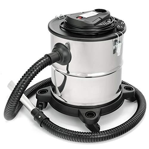 Sellnet Aschesauger 20L Kaminsauger 1200W DUAL Filter System mit 4 Rollen 121