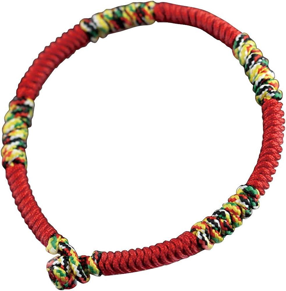 MileHouse Fashion Bangle Bracelet for Women Girls,Men Handmade Braided Woven Rope Bangle Bracelet Red Wrist Band - Red Men's