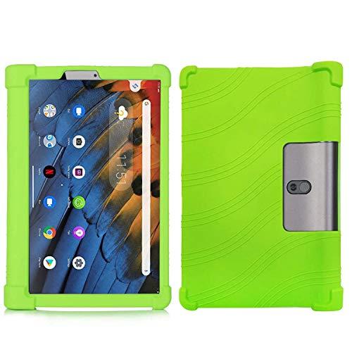 QYiD Funda para Lenovo Yoga Tab 3 Plus/Yoga Tab 3 Pro 10, Funda de Silicona Suave a Prueba de Golpes Protectora para Lenovo Yoga Tab 3 Plus YT3-X703F / Yoga Tab 3 Pro YT3-X90F 10.1-Pulgadas, Verde