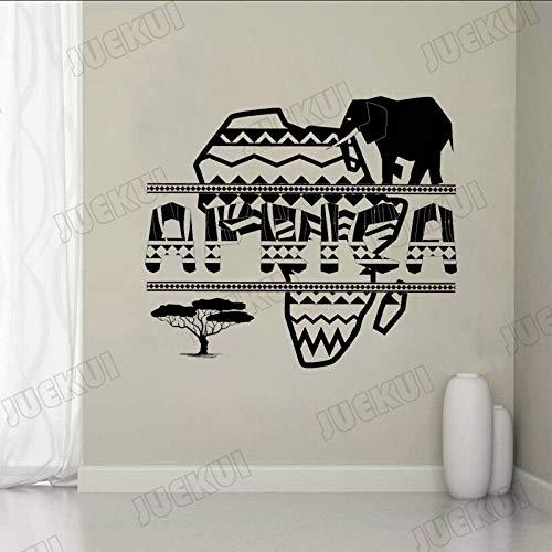 guijiumai Afrikanische Karte Kreative Buchstaben Elefanten Wandaufkleber für Wohnzimmer Home Art...