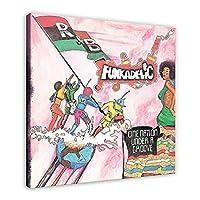 Xianrenge ファンカデリック(ジョージクリントン)のアルバムカバーを印刷します溝の下の1つの国キャンバスポスター壁アートキャンバス印刷に印刷-24X24インチX1フレームレス