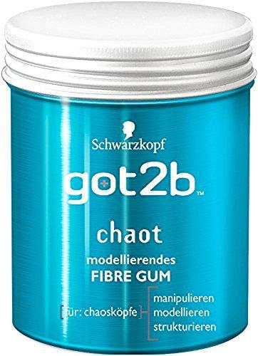Schwarzkopf Got2b Chaot Fibre Gum Gel, 3er Pack (3 x 100 ml)