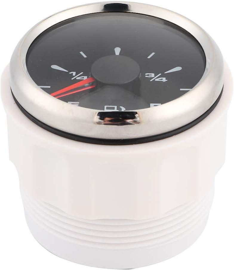 negro Qiilu Medidor de nivel de combustible pantalla digital retroiluminaci/ón de 8 colores para yate de motocicleta de 12 V//24 V medidores de nivel de combustible de 2 pulgadas y 190 ohmios