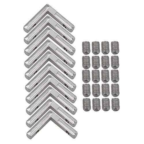 Kohlenstoffstahl 2020 Aluminium Profil Silber Europäische Eckstecker Gelenk Klammer Packung von 10