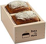 bax im Holz Brot-Holzbackrahmen aus naturbelassenem, massivem Buchenholz für leckeres, selbstgebackenes Brot, 500g - 1000g - einfach