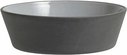 Preisvergleich für Steingut Schale Suppenteller schwarz weiß von NORDAL 18 cm L