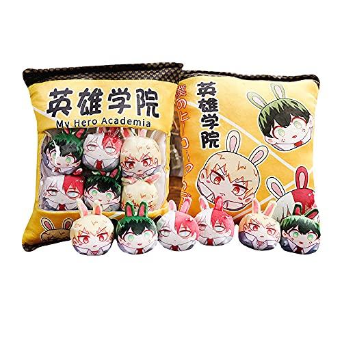 My Hero Academia Cute Throw Pillow Peluches Extraíble Anime Plush Snack Pillow Pudding Decorativo Anime Dolls Bed Sofá Juguetes creativos Regalos extraíbles Fluffy Creative Gifts for Teens Girls Kids 🔥