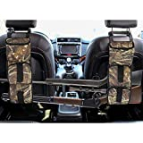 LOVIT Car Concealed Seat Back Gun Rack Hunting Gear Seat Back Gun Sling Holder Universal Shooting Accessories, Fit for Vehicles (Navy camo)