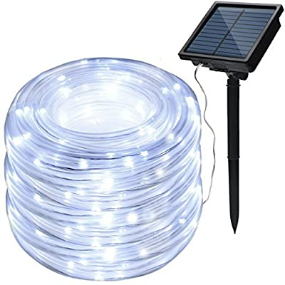 IMAGE 8 Modes Solar Rope Lights Outdoor String Lights 78.7Feet 20M Waterproof 200LED for Indoor Outdoor Garden Party Patio Lawn DecorColor