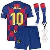 Langston Sweat-Shirts Maillots de Football Jersey de Sport 2019/2020 Barcelona #10 Messi Vêtements pour Enfant Garçon, T-Shirt et Short et Chaussette (2019/2020 Barcelona, 26 (8-10 Years))
