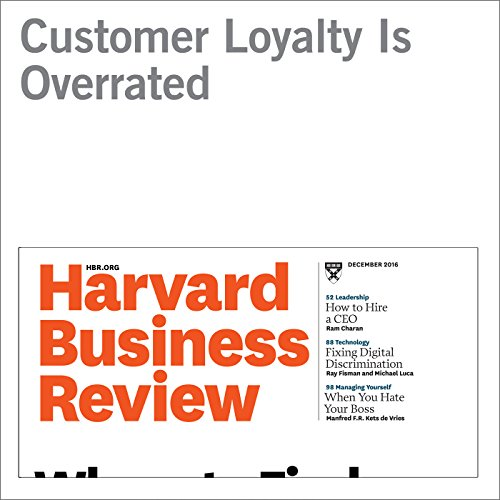 Customer Loyalty Is Overrated audiobook cover art