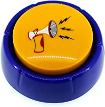 RIBOSY Rap Airhorn Sound Button - Hip Hop Air Horn Sound Effect Button - Hype Up Your Life (Batteries Included) (Blue)