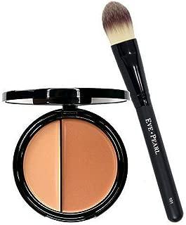 EVE PEARL HD Dual Foundation Full Coverage Long Lasting Non Greasy Vitamin E Skincare And 101 Foundation Brush Set Makeup Kit (Medium)