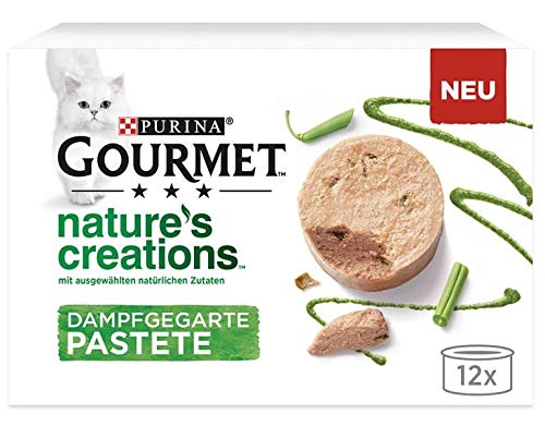Gourmet Nature's Creations Wet Cat Food Salmon with Green Beans Pack of 10+2 Free!
