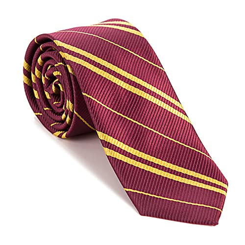 Joy Bang Cosplay Tie for Halloween Party Costume Accessories Tie for Birthday Party Red Stripe Necktie for Harry