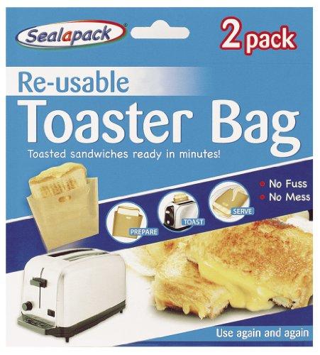 Sealapack Lot de réutilisable Lot de 2 sacs à toasts