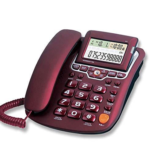 Festes Telefon Home Festnetz, der Winkel des Bildschirms einstellbar, Blacklist-Funktion, DND Modus, Freisprechfunktion, Dunkelrot, Weiß, Rot, dunkelrot