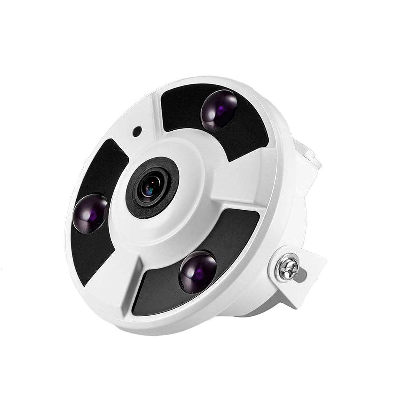 メタリック硬化する里親方朝日スポーツ用品店 ホームセキュリティカメラ-1080p 1.7ミリメートルのHD 360パノラマレンズ - 夜間視力の動き検出とドームカメラ