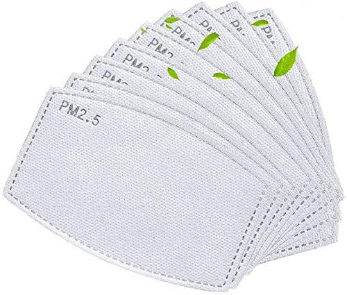 100 Stück 5 Schichten PM2.5 Aktivkohlefilter austauschbar Anti-Dunz-Filterpapier