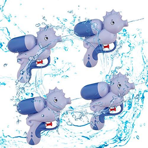 4 pistole ad acqua giocattolo, pistola ad acqua, animali marini, pistola a spruzzo d'acqua, pistola ad acqua, giocattolo per bambini, acquatico, piscina estiva