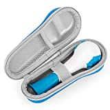 Fromsky Case for The Breather Hand-Held Inspiratory Expiratory Muscle Trainer, Travel Protective Cover Storage Bag (Blue)