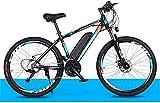 Bicicleta Eléctrica Bicicleta híbrida de 26 pulgadas / (36V8AH) 27 Velocidad 5 Sistema de potencia de velocidad Frenos de disco mecánico Bloqueo frontal de la bifurcación Frente de descarga, hasta 35k