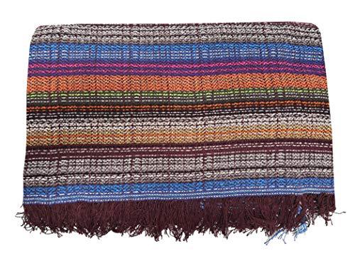 ADP Home - Plaid/Colcha Multiusos Jaspeado Ideal para Cama o Sofá (Medida: 230X260 cm), Multicolor