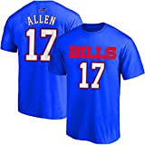 NFL Youth 8-20 Team Color Polyester Performance Mainliner Player Name and Number Jersey T-Shirt (Medium 10/12, Josh Allen Buffalo Bills Blue Home)