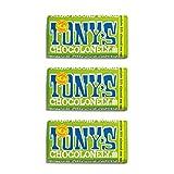 Tonys Chocolonely 'puur amandel zeezout' 3 x 180g -