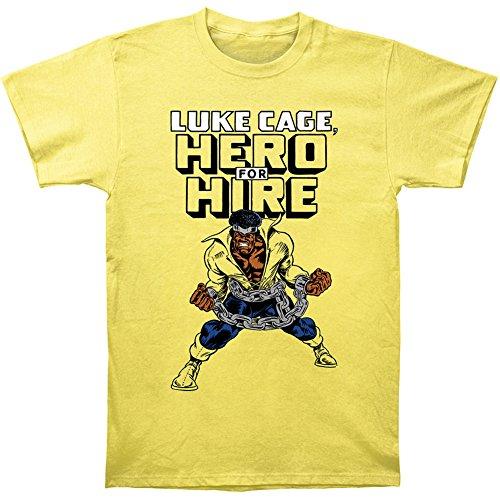 Marvel Luke Cage Hero for Hire 30 Single T-Shirt, Banana, Large