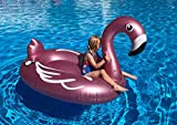 Flotador Inflable en Forma de Flamenco tamaño Gigante para la Piscina o Playa. Flamenco Flotador Hinchable para la Piscina o la Playa por Integrity co (140cm)