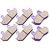 CCIYU Front/Rear/Front and Rear Carbon Fiber Brake Pads Motorcycle Motorbike Replacement Brake Pads Fit For 1988 1989 1990 1991 1992 1993 1994 1995 1996 1997 1998 1999 2000 Honda Goldwing