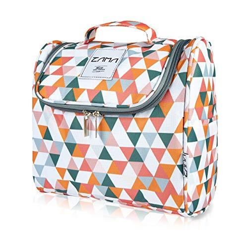 ZAMA XL Design Kulturtasche | Kulturbeutel zum aufhängen mit Haken und Henkel für Damen, Herren und Kinder | Kosmetiktasche, Waschbeutel aufklappbar, groß, leicht für Koffer