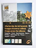 5 North Tyrolean editions of the 30-part series '4 MAPS ACROSS THE MILLENNIA' of the 30 regions along the VIA CLAUDIA AUGUSTA from the Danube across the Alps to the Adriatic Sea and the Po River