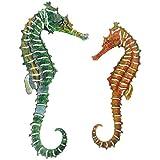 Next Innovations Metal Wall Art Seahorse, 2 Piece Set