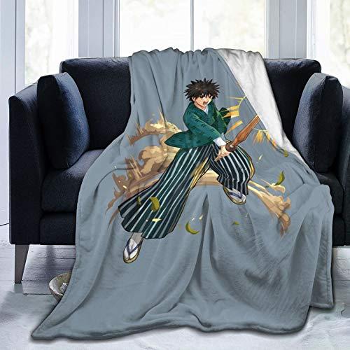 Miwaimao Rur_Ouni Ken_Shin - Manta de forro polar de franela, ligera, súper suave y acogedora manta de cama