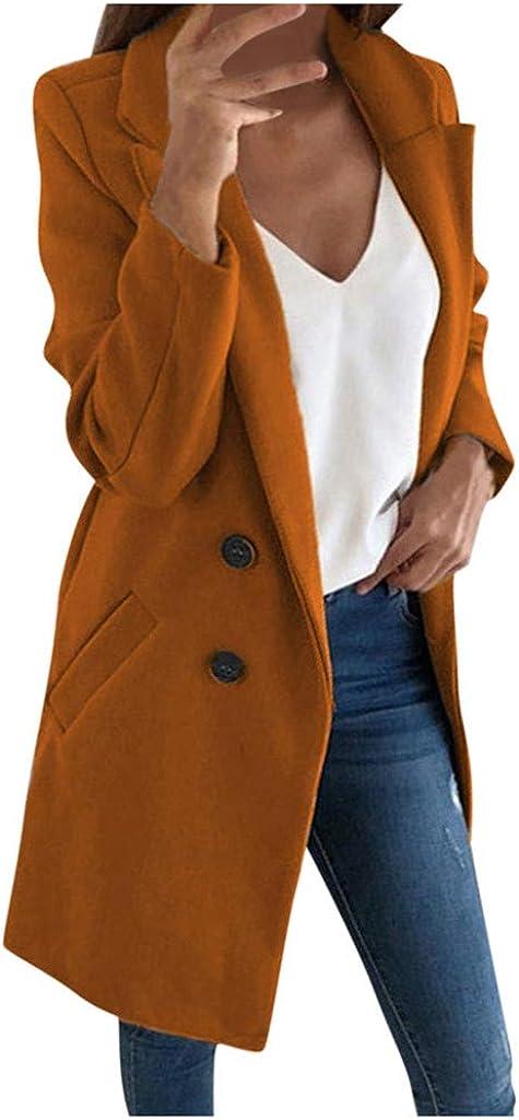 Woman Faux Fur Coat Elegant Blend Cardigan Slim Jacket Double-Breasted Long Windbreaker Outerwear Tops