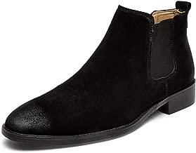 Men's Classic Suede Slip-on Chelsea Boots Comfortable Plus Velvet Warm Ankle Boots