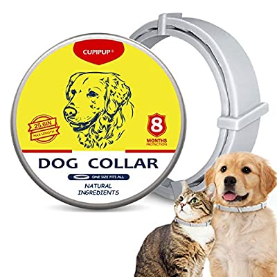 CUPIPUP Collar for Dogs  Cats, 100% Natural Ing...